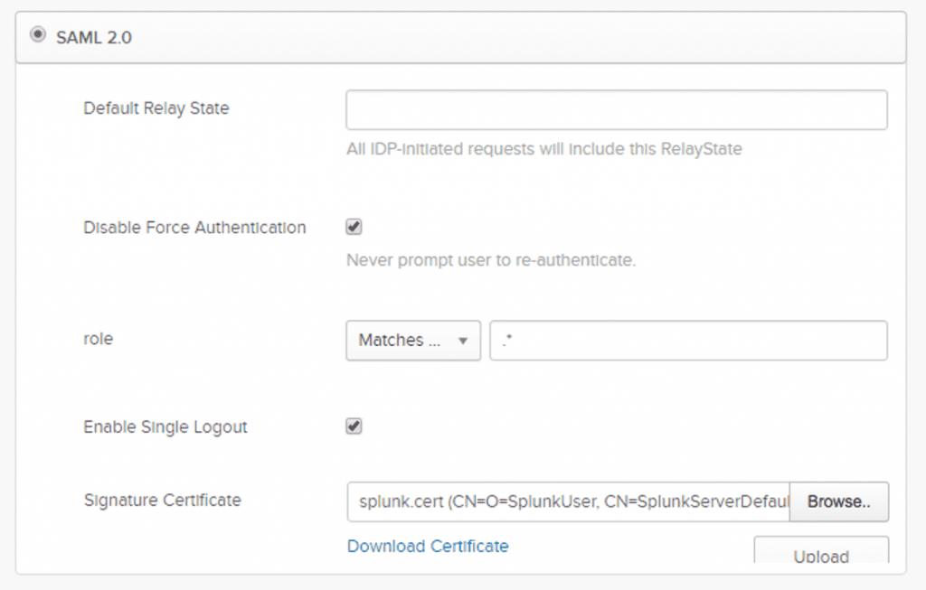 Configuring a splunk.cert file
