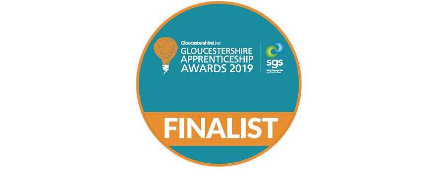 Gloucestershire apprentice award finalist badge
